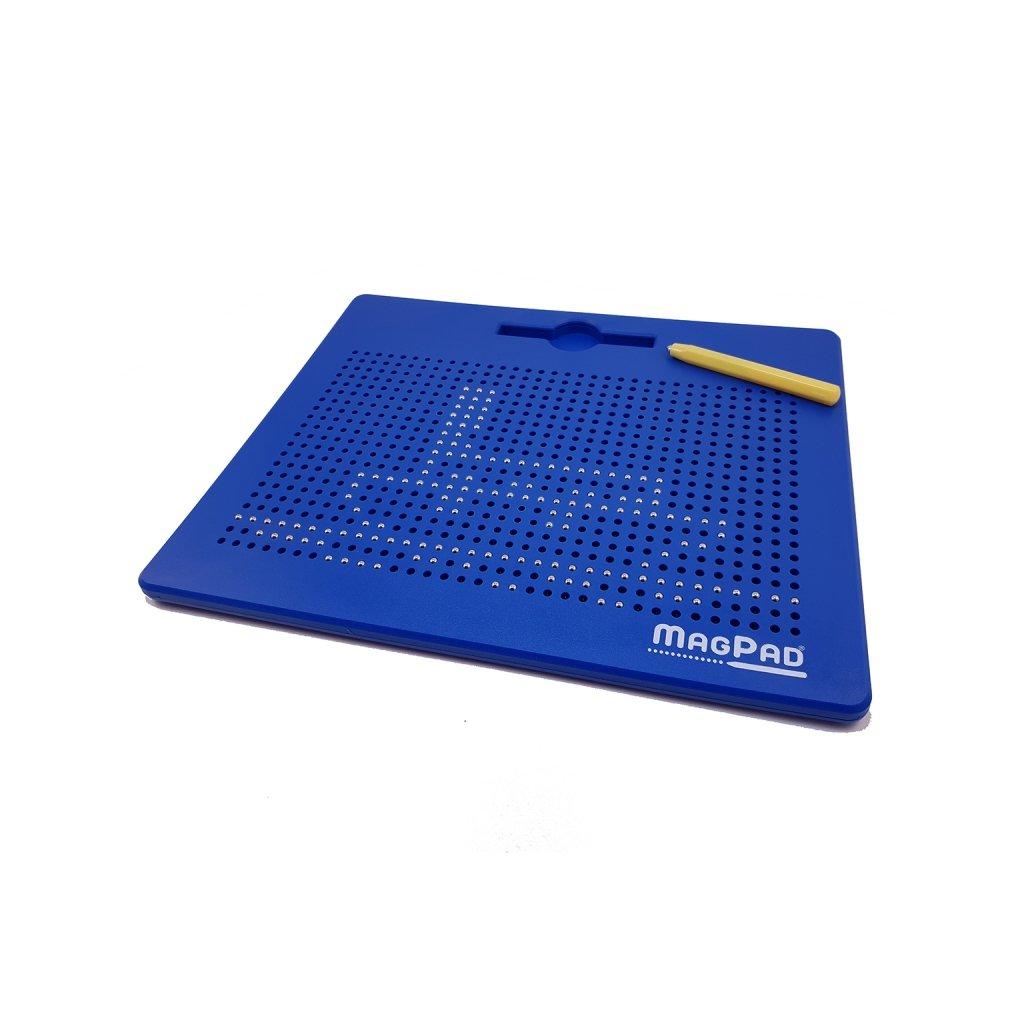 Magnetická kreslící tabulka MAGPAD Big 714 kuliček, Barva Modrá - Rozbaleno