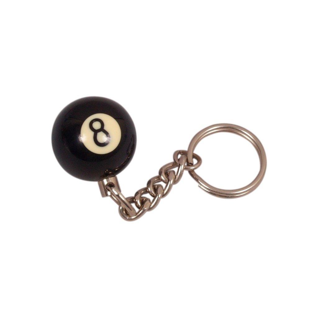 Přívěsek 8 ball černý