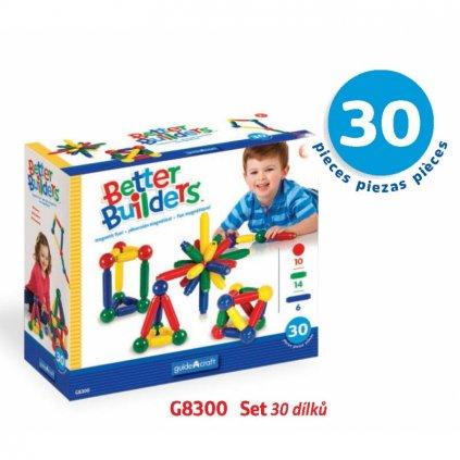 Magnetická stavebnice Better Builders - Set 30 ks