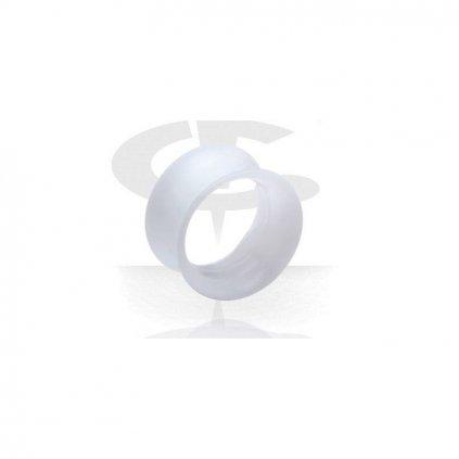 Naušnice do ucha tunel bílý silikon