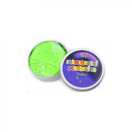 Inteligentní svítící plastelína zelená