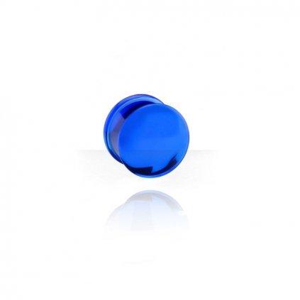 Akrylový plug do ucha modrý