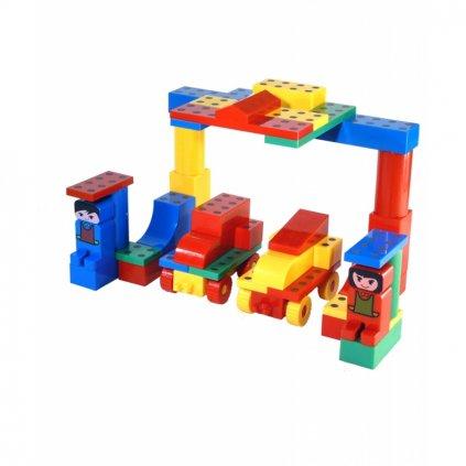 Magnetická stavebnice Magnetiko De Luxe 57 ks plastic box