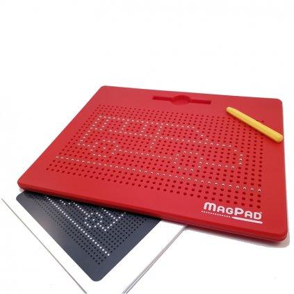 Magnetická kreslící tabulka MAGPAD Big 714 kuliček, Barva Červená