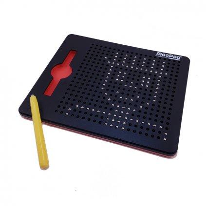 Magnetická kreslící tabulka Magpad - Medium 380 kuliček, Barva Černá