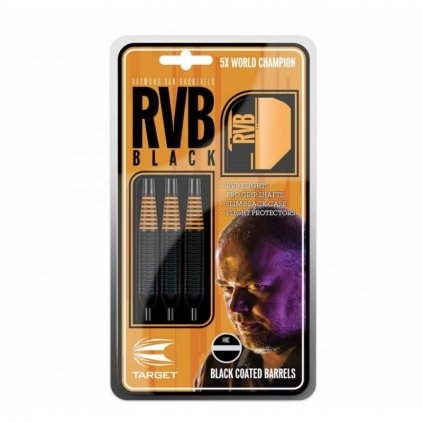 Šipky Steel RVB Black /Orange Brass 22 G