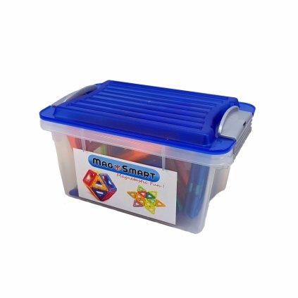 Magnetická stavebnice MagSmart 30ks plastový box