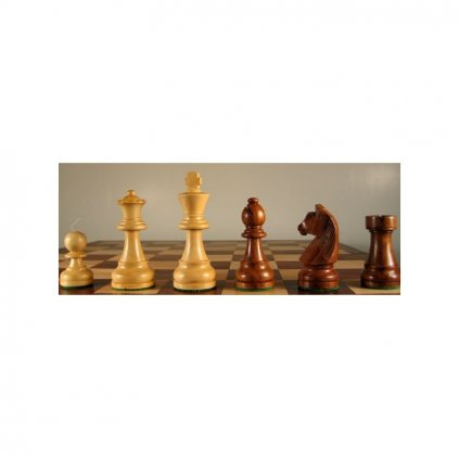Šachové Figury Staunton Senator č. 6 hnědé