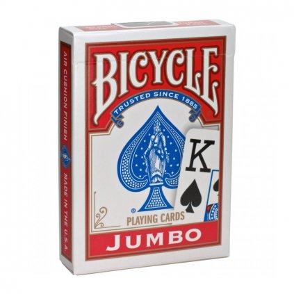 Bicycle Rider Back International Jumbo Index, Barva Červená