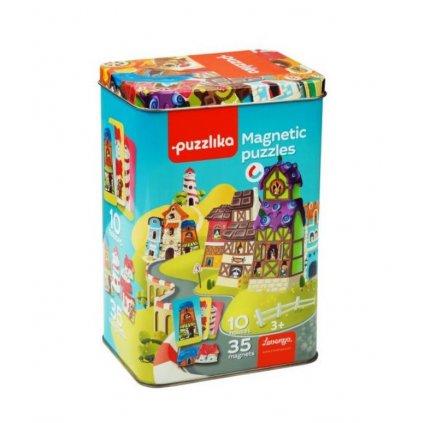 Cubika Magnetické puzzle Domečky
