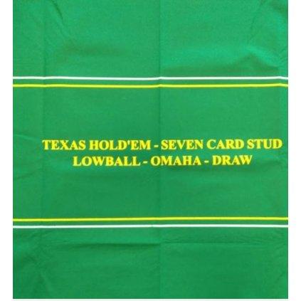 Plátno Poker 182 x 93 cm zelené s betline a nápisy