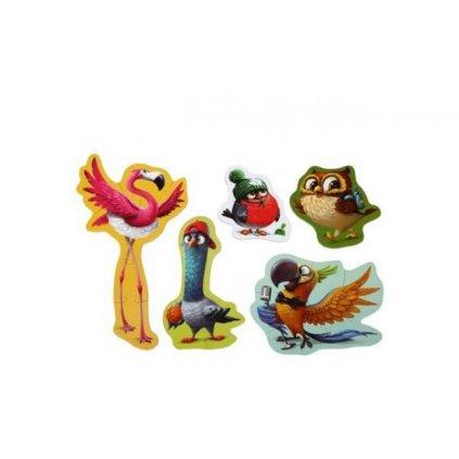 Cubika Puzzle 5v1 Ptáci
