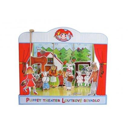 MARIONETINO Loutkové divadlo De Luxe 3 pohádky (Červená Karkulka, Perníková chaloupka, Kůzlátka)