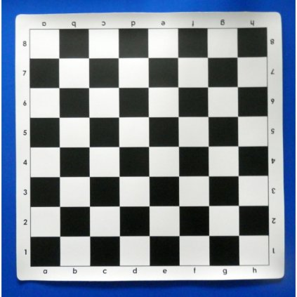 Šachové plátno černobílé velké - silikon
