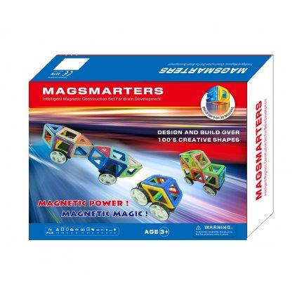 Magnetická stavebnice MagSmarters 74 dílků