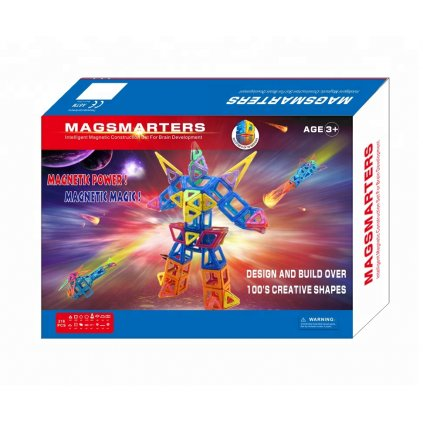 216 pcs 3D Magnetic Construction Plastic Block
