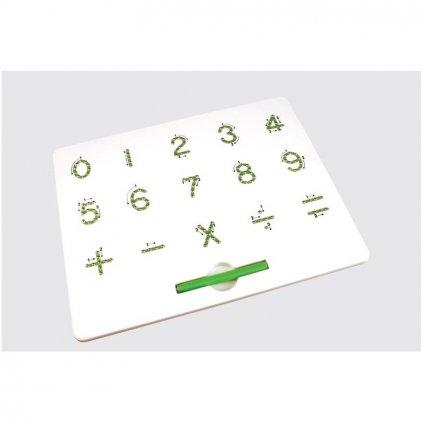 Magnetická kreslící tabulka MagPad Číslice - Rozbaleno