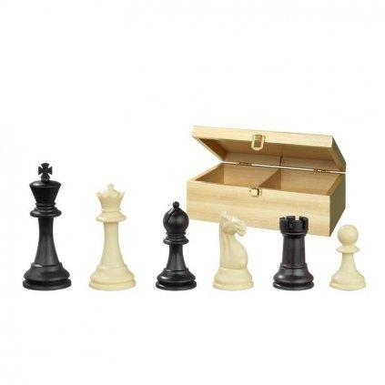 Šachové figury Nerva Philos plast v dřevěném boxu