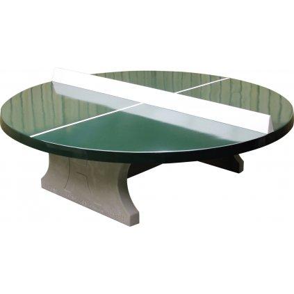 Stolní tenisový stůl betonový kulatý zelený
