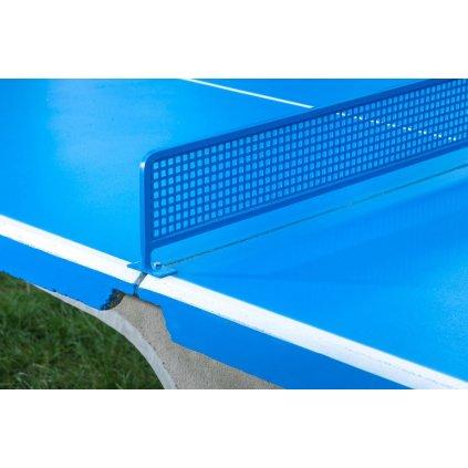 Síť na venkovní betonový stůl, celokovová modrá