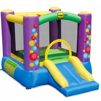 Happy Hop Barevné bubliny skákací hrad