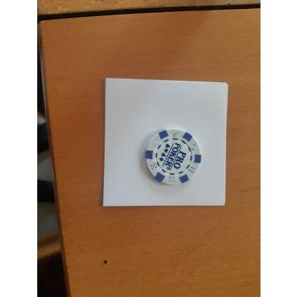 Pokerový žeton bílý s nápisem