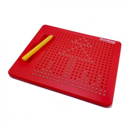 Magnetická kreslící tabulka Magpad - Medium 380 kuliček, Barva Červená - Poškozený obal