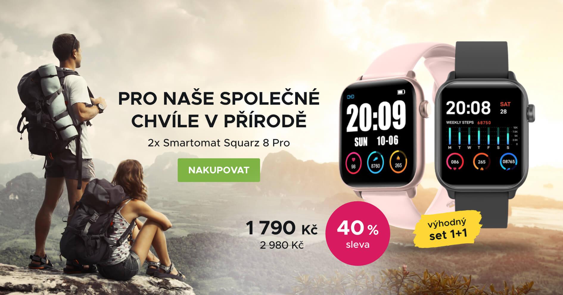 MDŽ: Smartomat Squarz 8 Pro černá a růžová