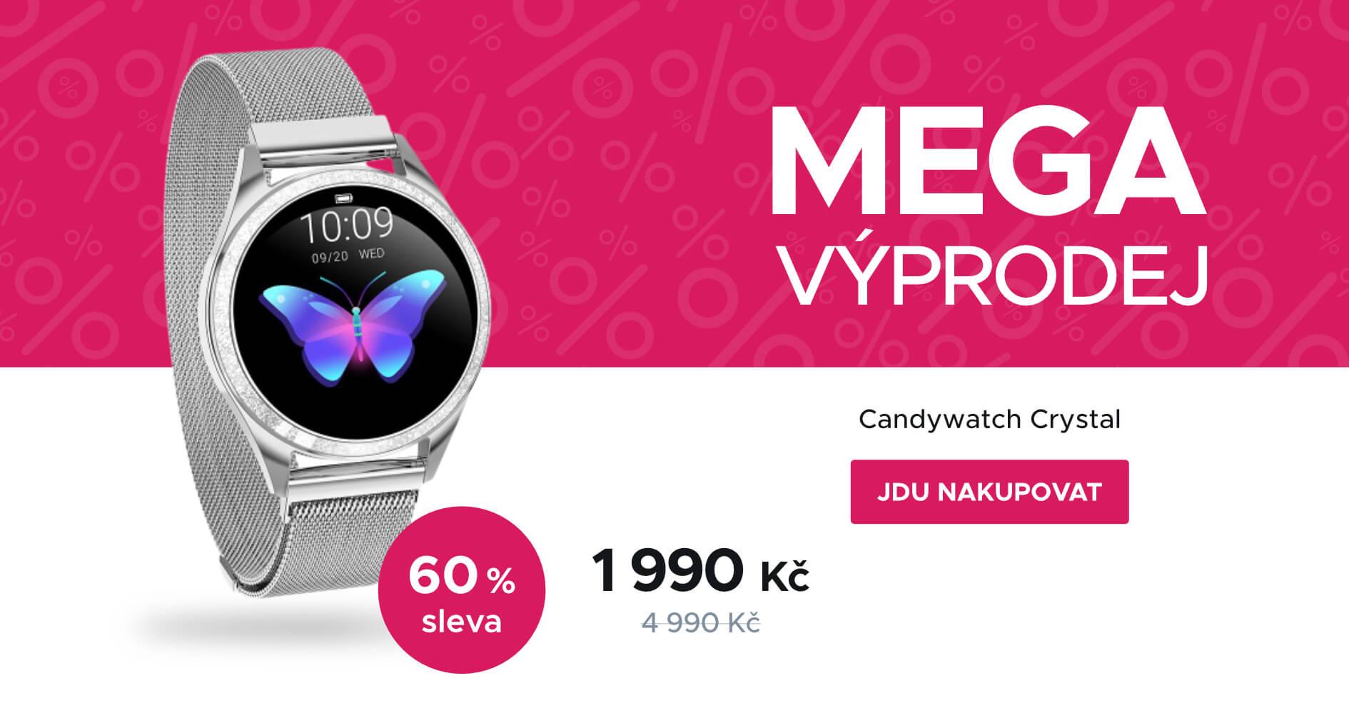MEGA VÝPRODEJ: ARMODD Candywatch Crystal stříbrná