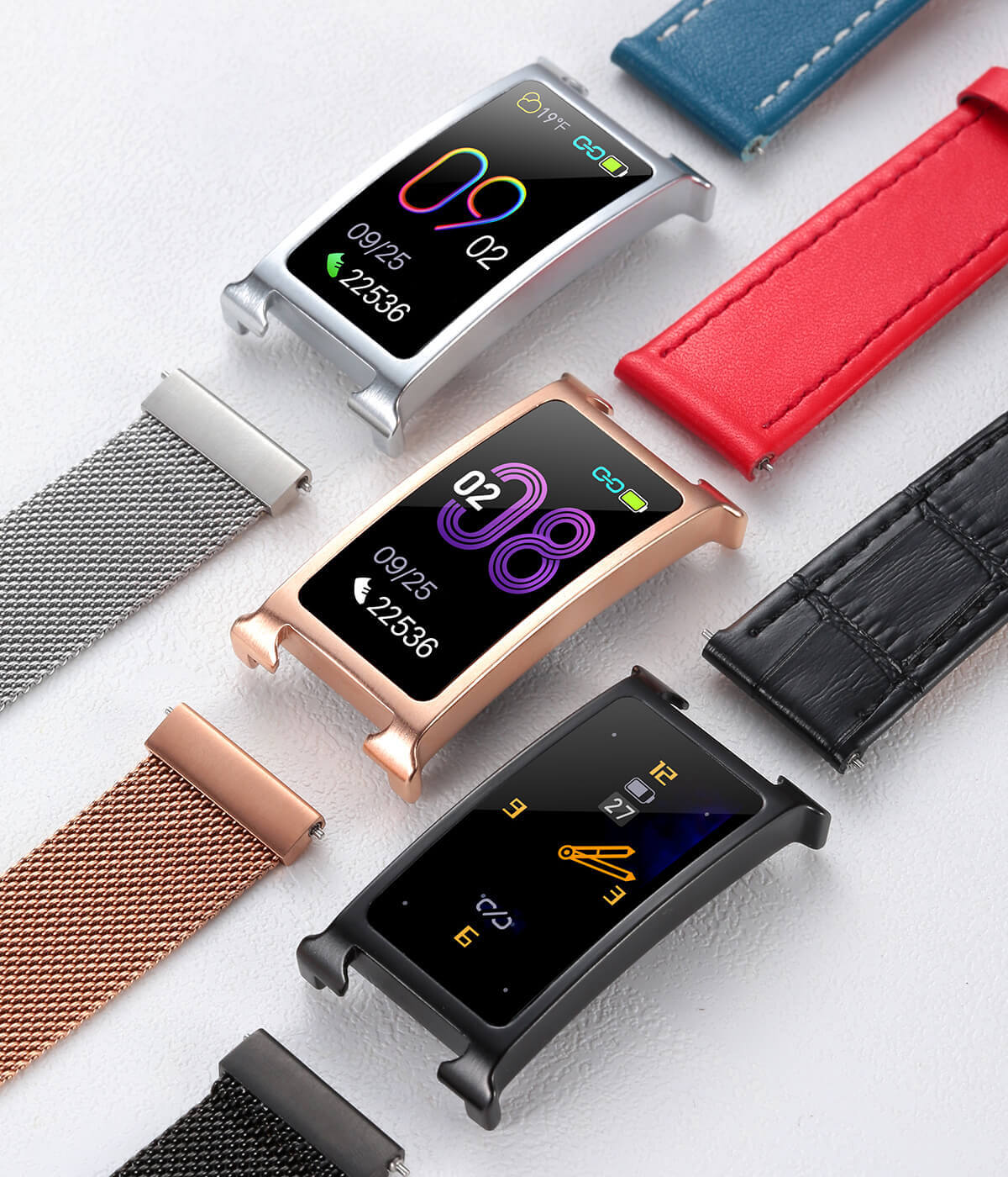 Chytrý kovový fitness náramek Smartomat Silentband 2 chytré hodinky 4