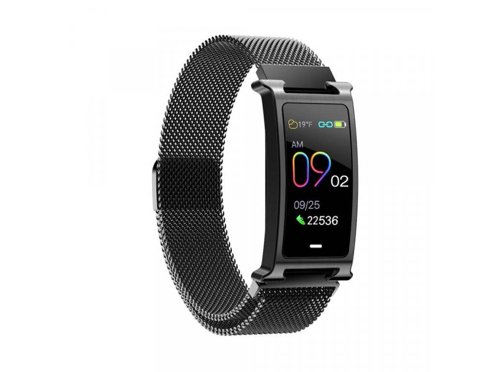 Chytrý kovový fitness náramek Smartomat Silentband 2 chytré hodinky 16