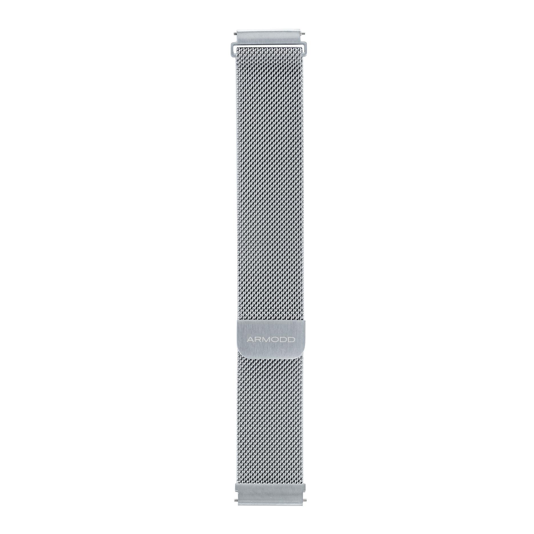 Řemínek ARMODD Slowatch kovový stříbrný (20 mm)