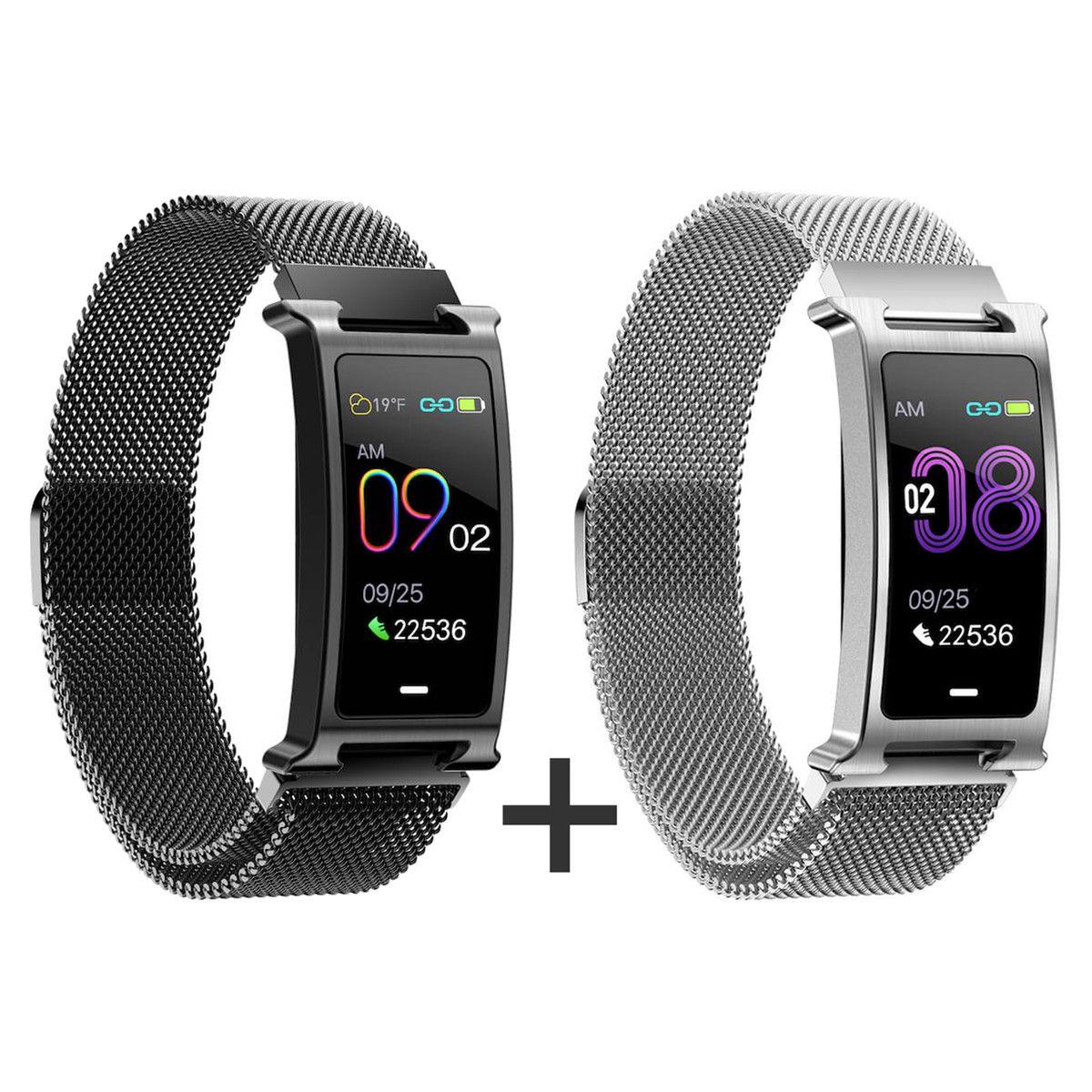Zvýhodněný set 1+1 Smartomat Silentband 2 černá + stříbrná