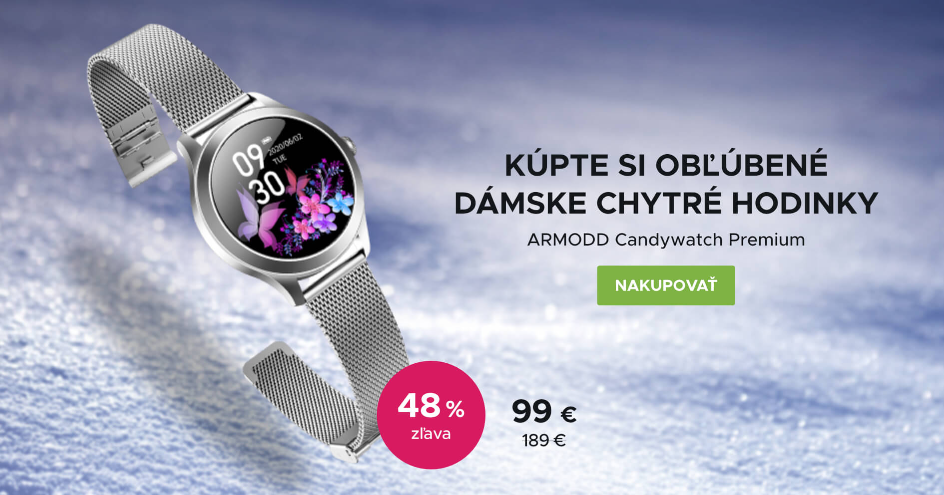 Biely február: ARMODD Candywatch Premium - stříbrná