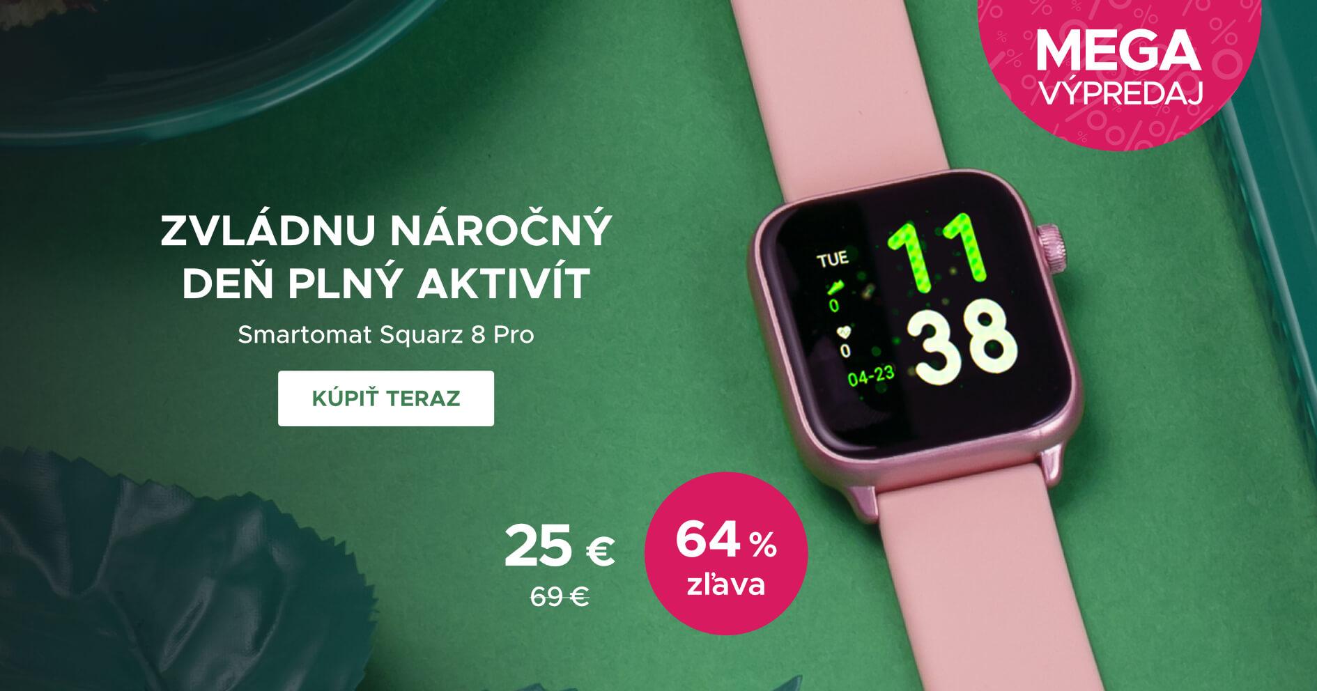 MEGA VÝPRODEJ: Smartomat Squarz 8 Pro růžová