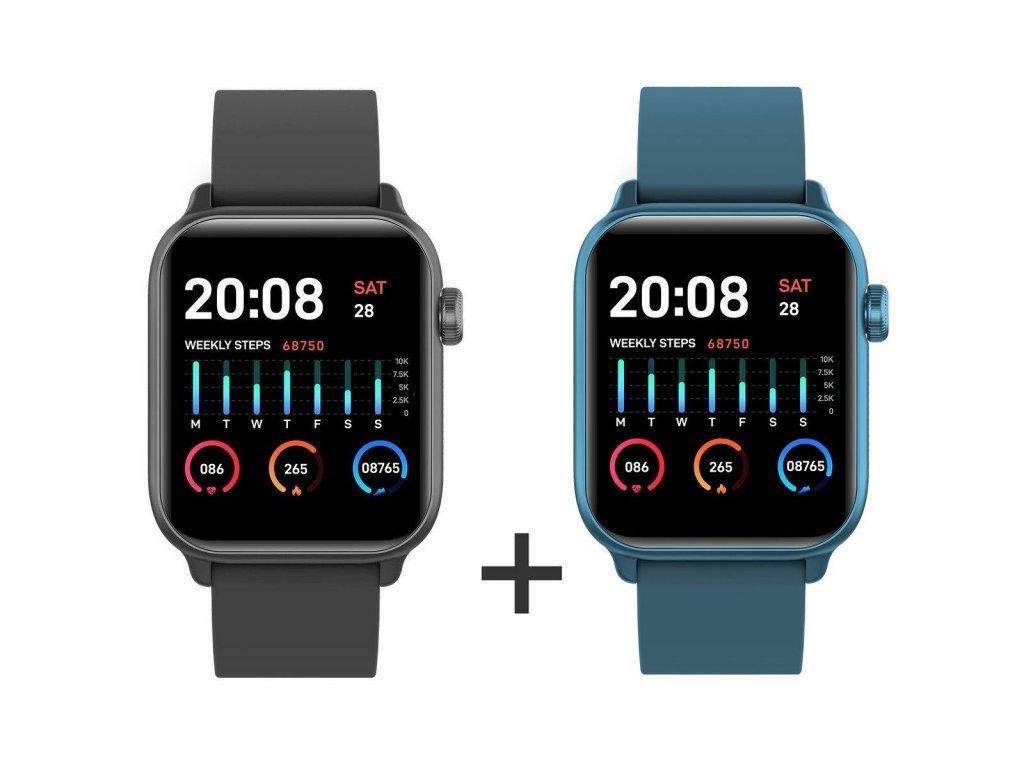 Zvýhodnený set 1+1 Smartomat Squarz 8 Pro čierna + modrá