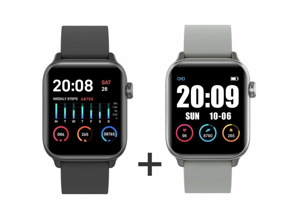 Zvýhodnený set 1+1 Smartomat Squarz 8 Pro čierna + strieborná