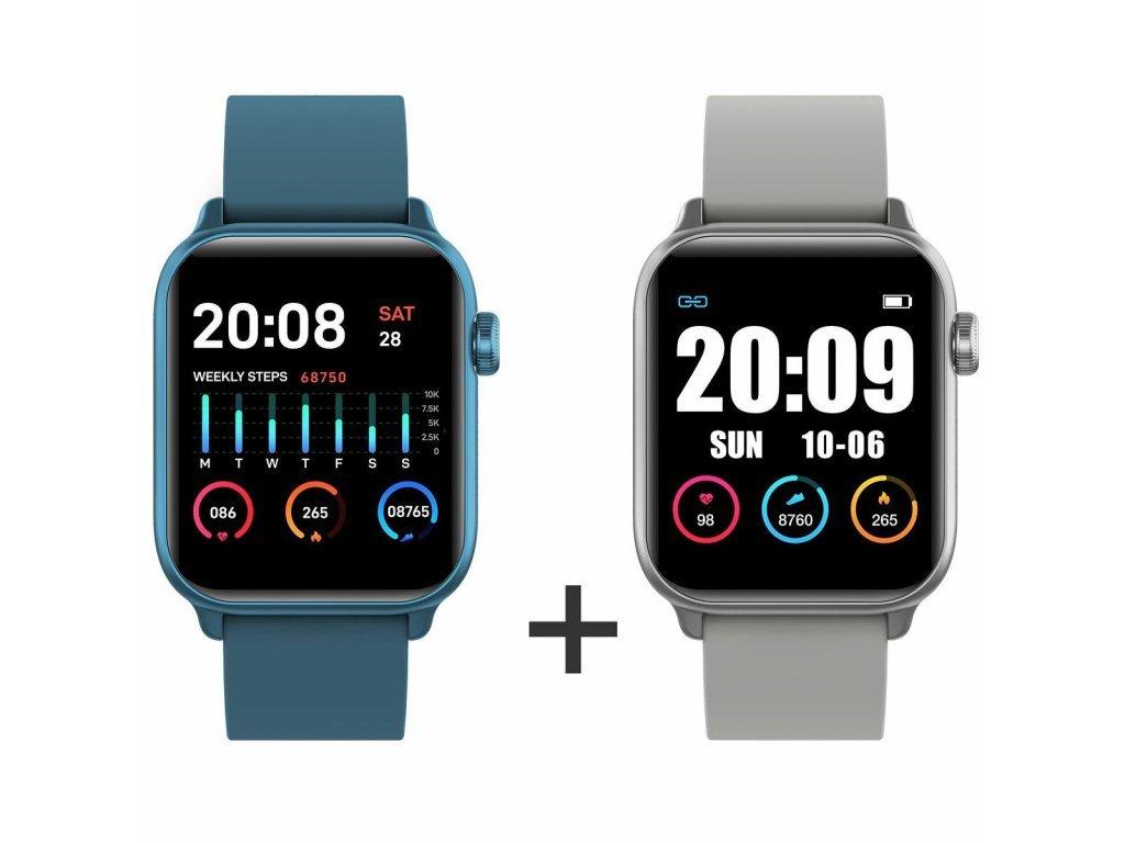 Zvýhodnený set 1+1 Smartomat Squarz 8 Pro modrá + strieborná