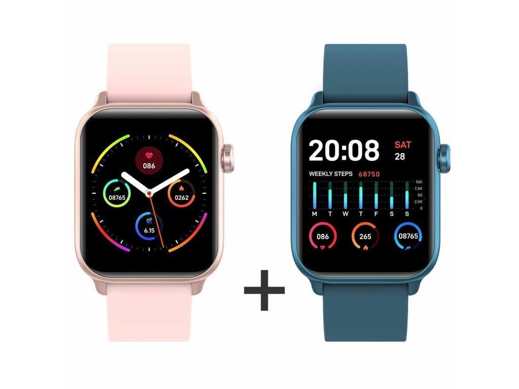 Zvýhodnený set 1+1 Smartomat Squarz 8 Pro ružová + modrá