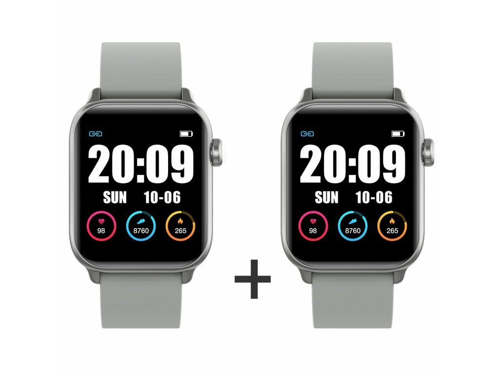 Zvýhodnený set 1+1 Smartomat Squarz 8 Pro strieborná + strieborná