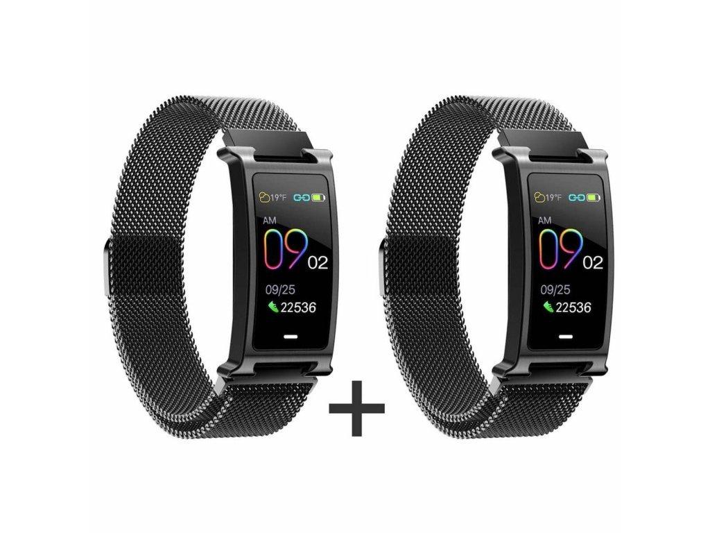 Zvýhodnený set 1+1 Smartomat Silentband 2 čierna + čierna