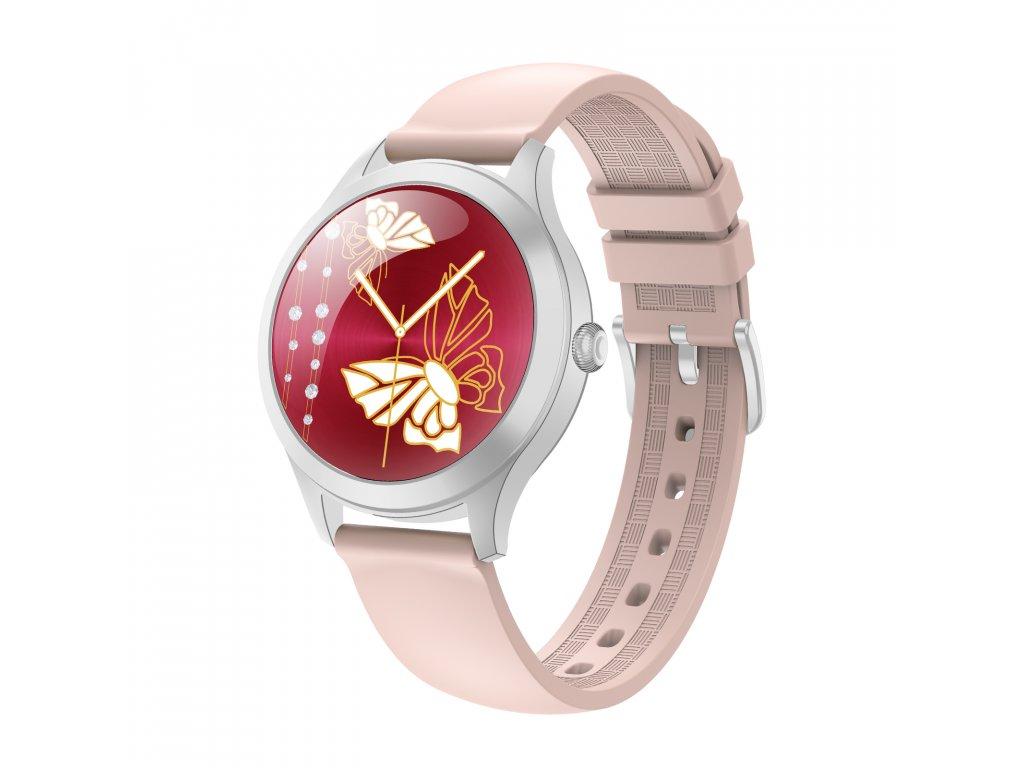 Remienok ARMODD Candywatch ružový strieborny