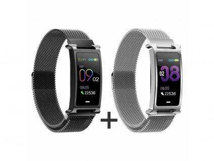 Zvýhodnený set 1+1 Smartomat Silentband 2 čierna + strieborná