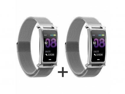 Zvýhodnený set 1+1 Smartomat Silentband 2 strieborná + strieborná