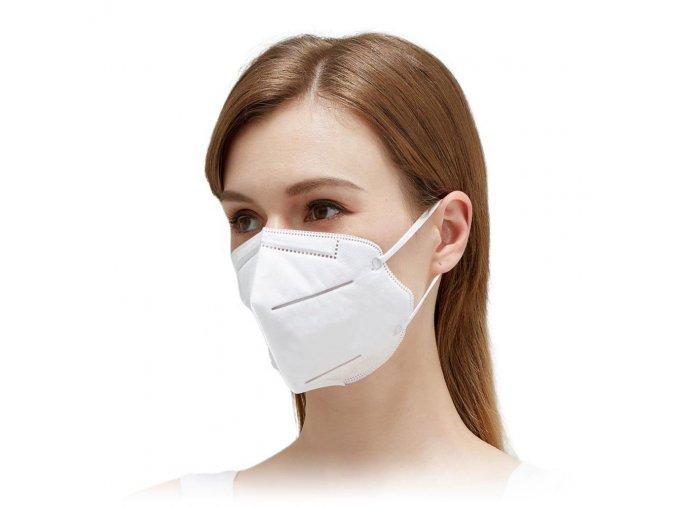 Respiračné rúško KN95 (FFP2), certifikované - 2ks balenie