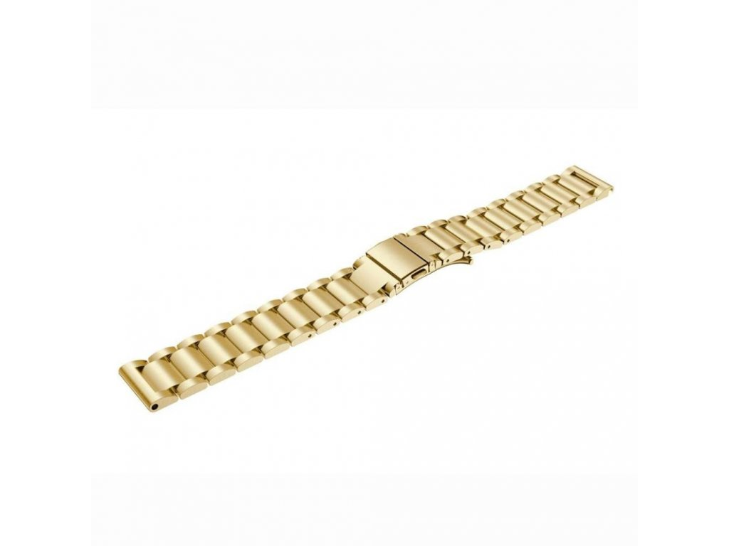 Výměnný pásek pro Gear S3 ocelový tříčlenný, Zlatá