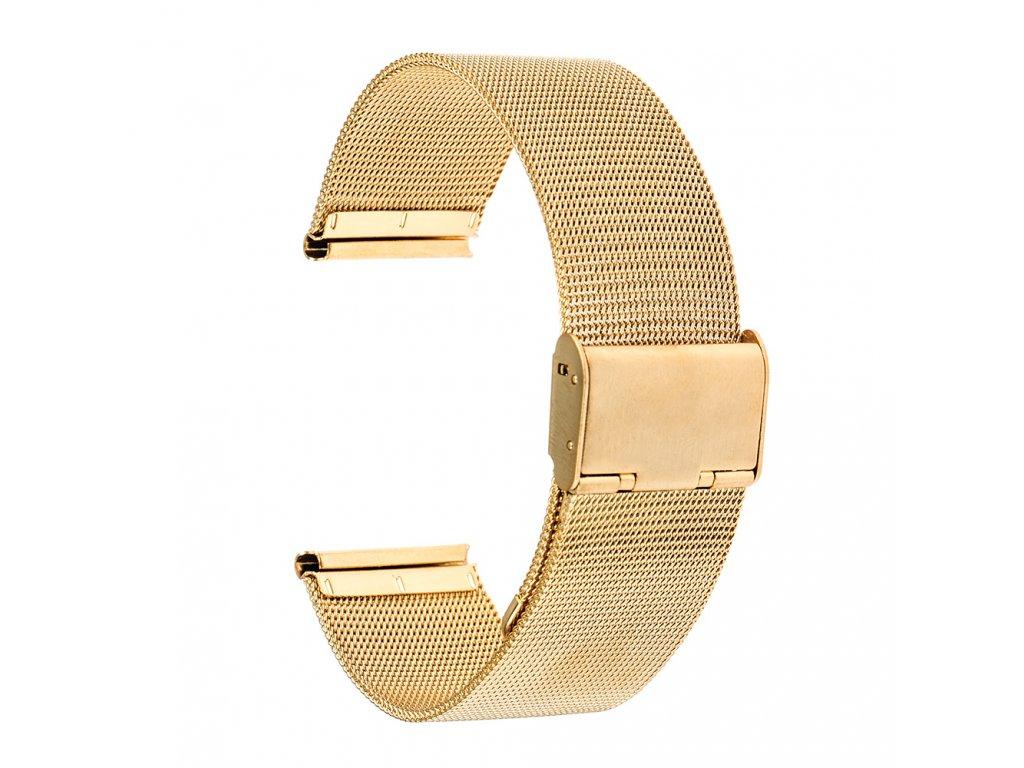 Výměnný pásek pro Gear S3 ocelový, Zlatá