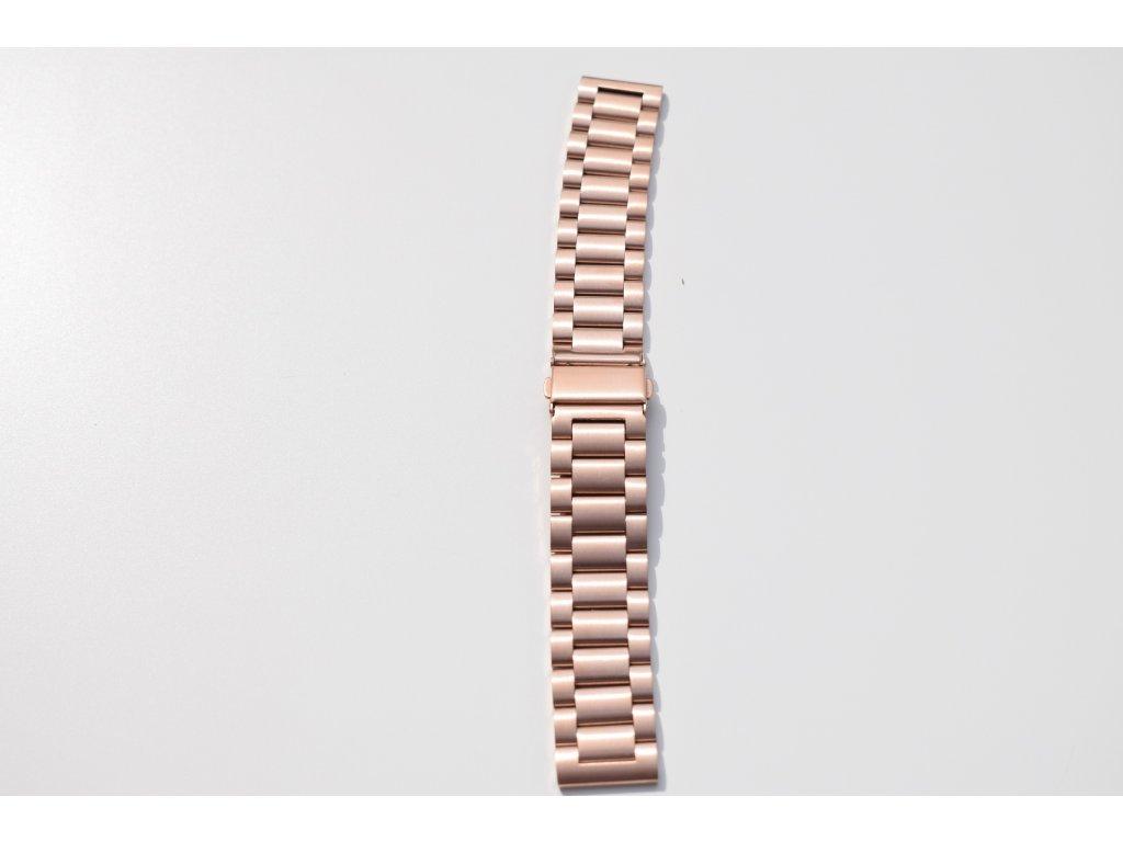 Xiaomi Amazfit Pace/Amazfit 2 luxusní ocelový náramek Rose Gold