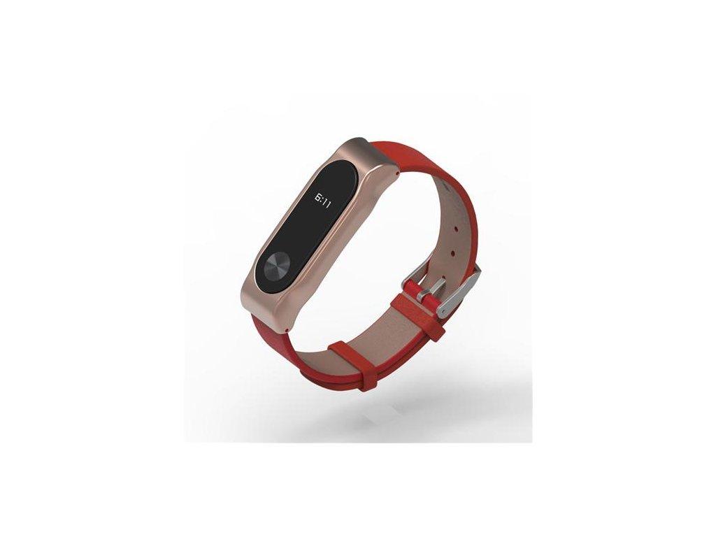 Xiaomi Miband 2 kožený náramek Červená