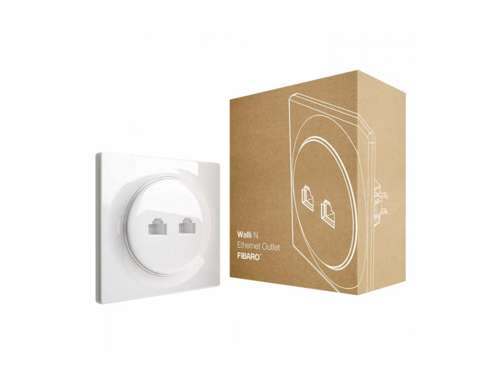 Ethernetová zásuvka bez inteligence - FIBARO Walli N Ethernet Outlet (FGWEEU-021)